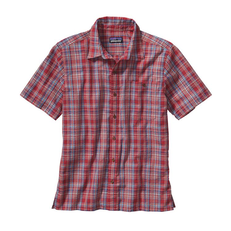 M'S PUCKERWARE SHIRT, Rose Valley: Classic Red (RVCS)