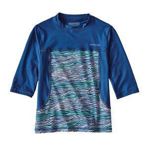 ガールズ・ウォーター・ラヴィン・ラッシュガード, Reef Waves: Superior Blue (RWSP)