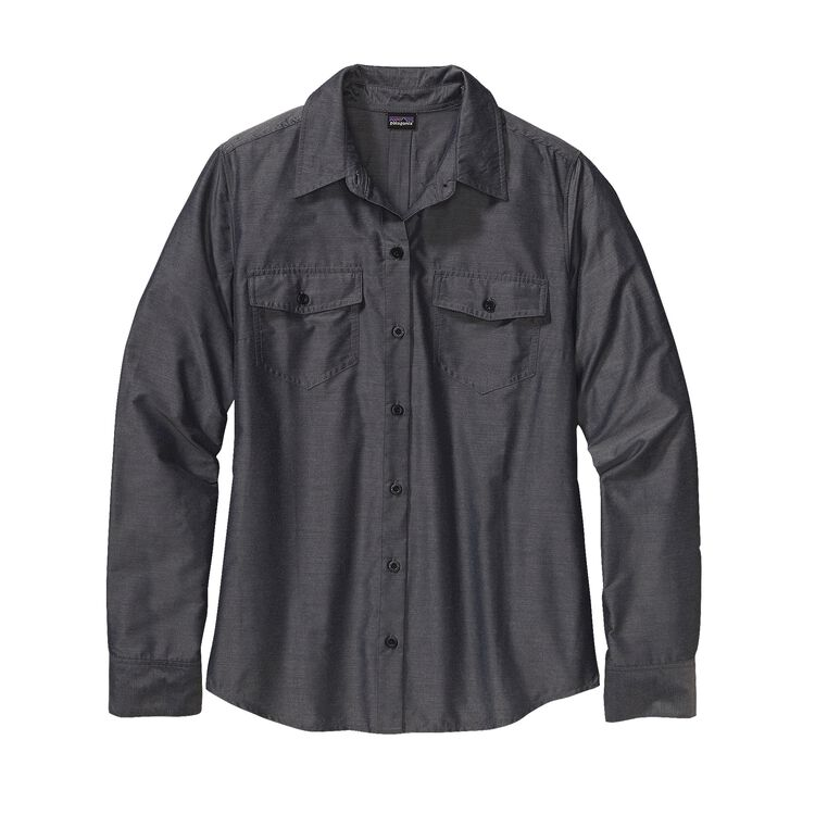 W'S L/S OVERCAST SHIRT, Chambray: Navy Blue (CBYN)
