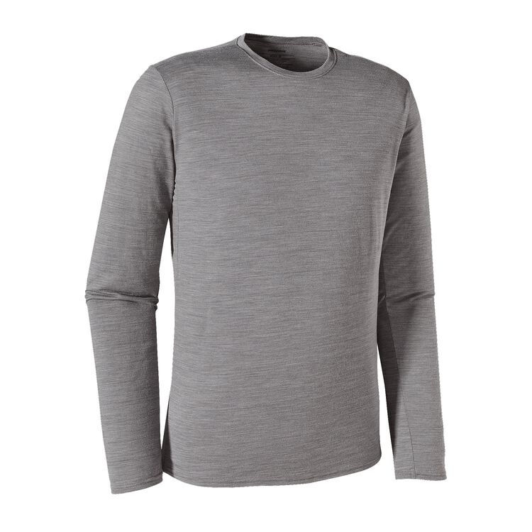 M'S L/S MERINO DAILY T-SHIRT, Feather Grey (FEA)