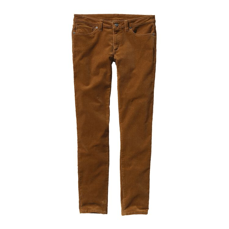W'S FITTED CORDUROY PANTS, Bear Brown (BRBN)