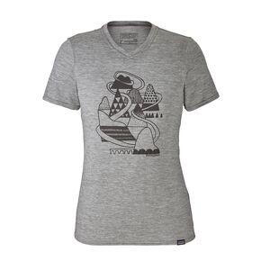 ウィメンズ・キャプリーン・デイリー・グラフィック・Tシャツ, Hill Home: Feather Grey (HHFE)
