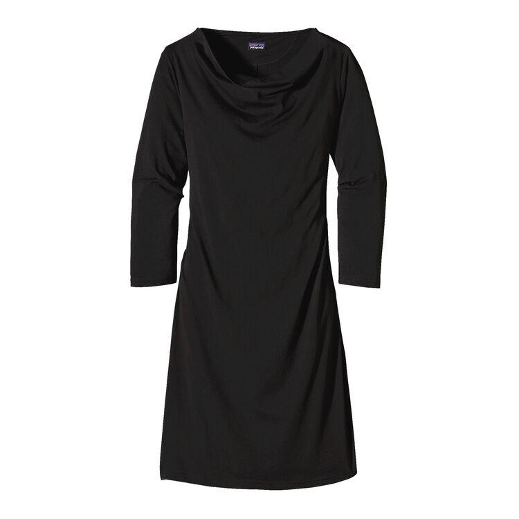 ウィメンズ・カマラ・カウルネック・ドレス, Black (BLK)