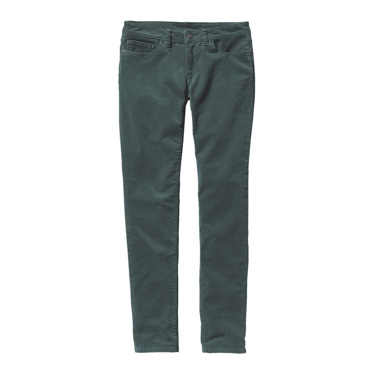 W'S FITTED CORDUROY PANTS, Nouveau Green (NUVG)