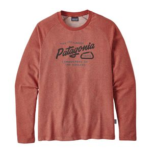 M's Splitter Script Lightweight Crew Sweatshirt, Roots Red (RTSR)