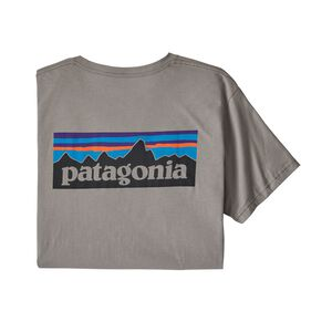 メンズ・P-6ロゴ・オーガニック・Tシャツ, Feather Grey (FEA)
