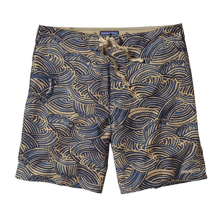 M'S PRINTED STRETCH PLANING BOARD SHORTS, Water Maker: Navy Blue (WMNV)
