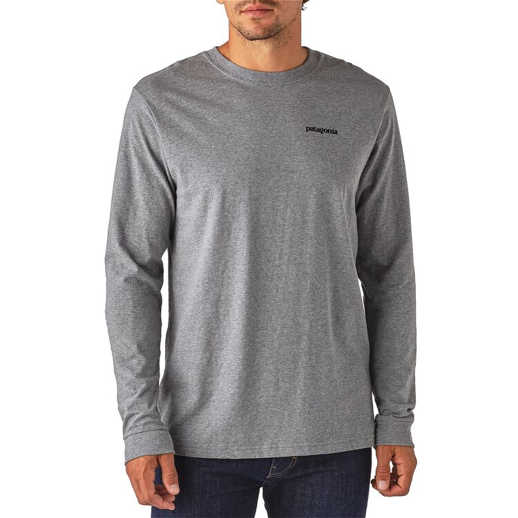 M's Long-Sleeved P-6 Logo Cotton T-Shirt,