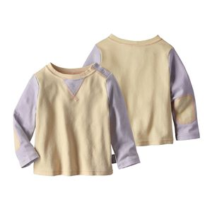 Baby Cozy Cotton Crew, Cove Stripe: Feather Pink (CVFP)