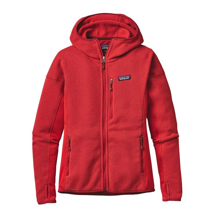 W'S PERFORMANCE BETTER SWEATER HOODY, French Red (FRR)