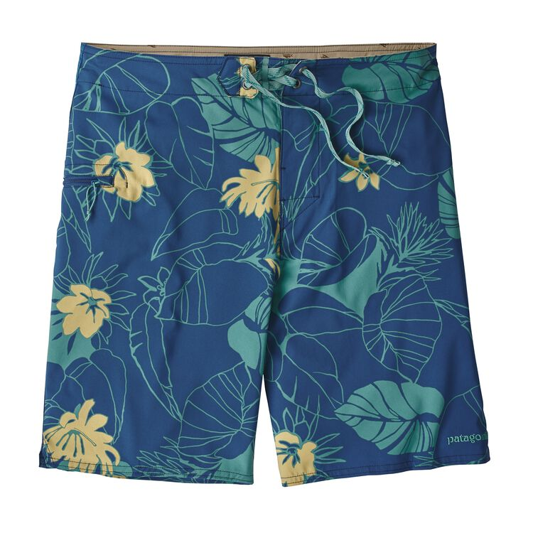 M'S STRETCH PLANING BOARDSHORTS - 20 IN., Valley Flora: Superior Blue/Limestone (VSUL)