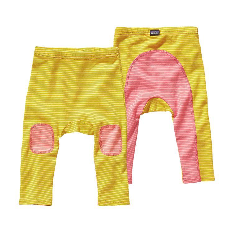 BABY COZY COTTON PANTS, Itsy Bitsy Stripe: Blazing Yellow (IBZY)