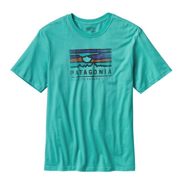 M'S PATAGONIA SUNSET COTTON T-SHIRT, Howling Turquoise (HWLT)
