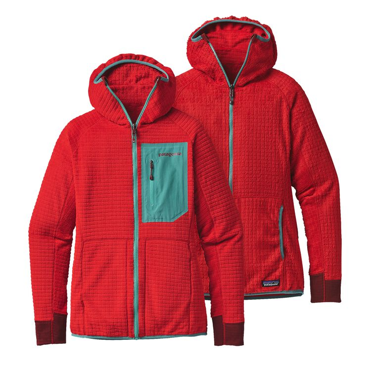 W'S R3 HOODY, French Red (FRR)