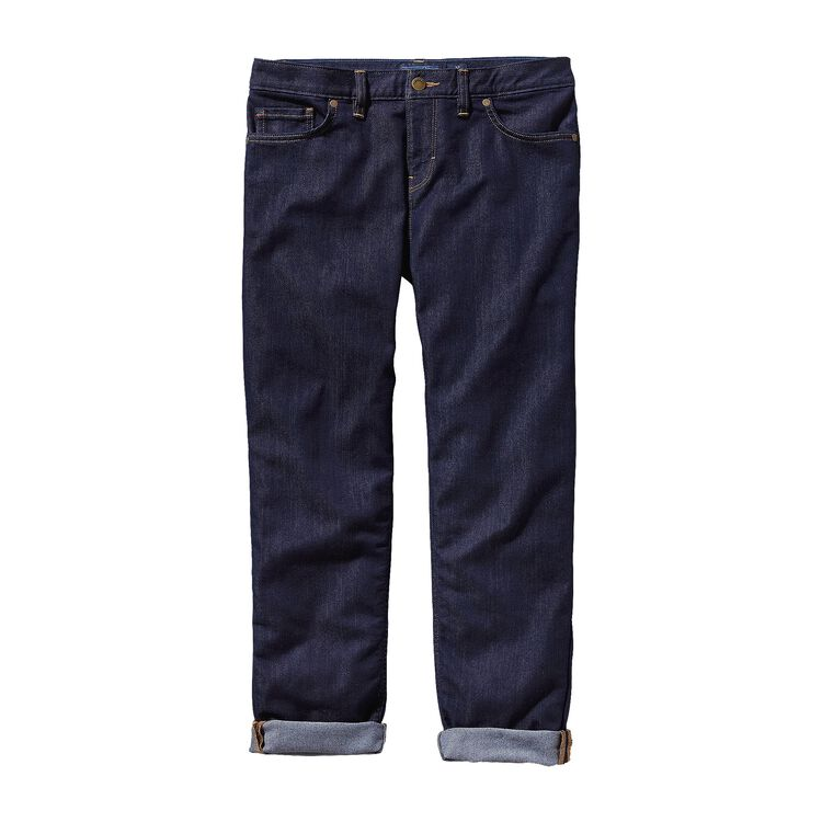 W'S BOYFRIEND CROPS, Dark Denim (DDNM)
