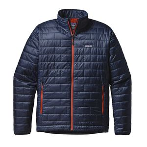 M's Nano Puff® Jacket, Navy Blue w/Paintbrush Red (NPTR)