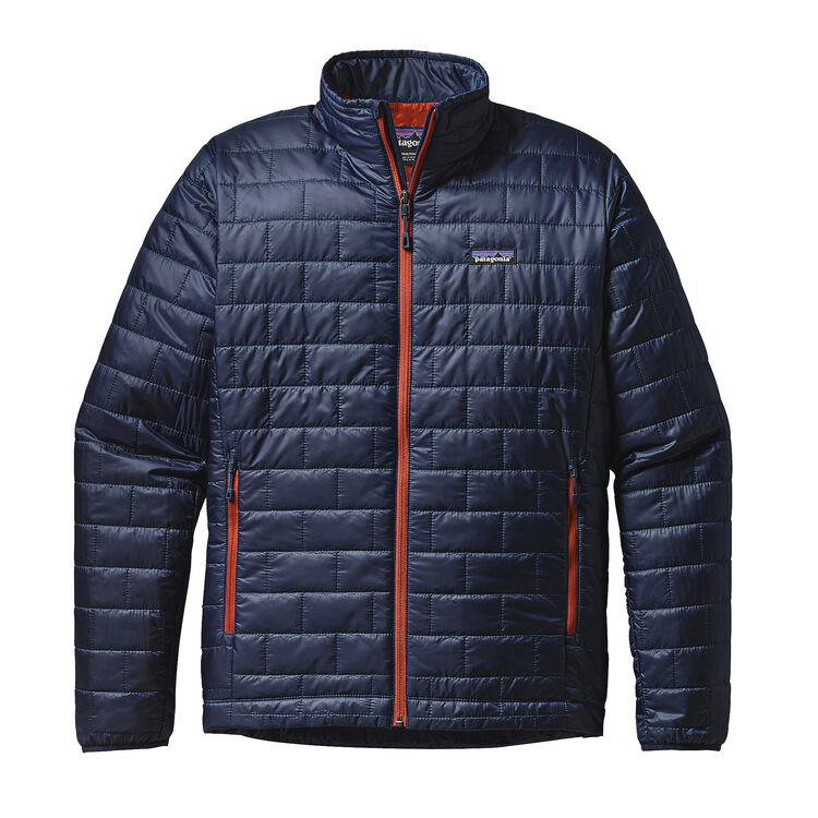 M'S NANO PUFF JKT, Navy Blue w/Paintbrush Red (NPTR)