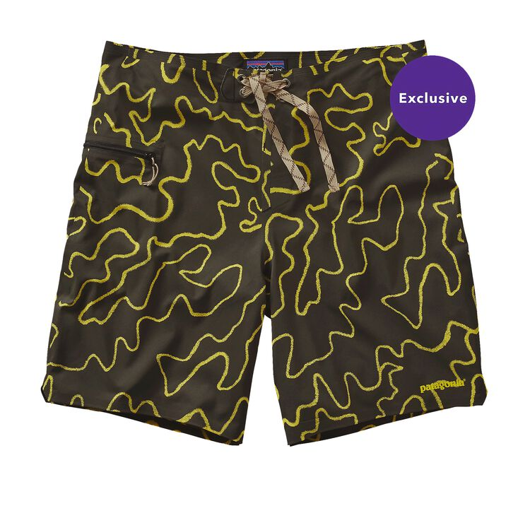 M'S HYDRO PLANING STRETCH BOARD SHORTS -, High Pacific Camo: Black (HPBK)