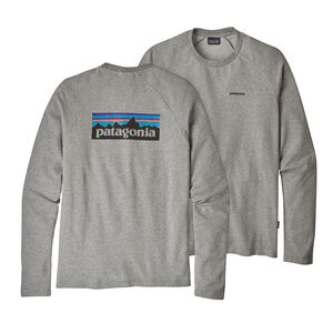 M's P-6 Logo Lightweight Crew Sweatshirt, Feather Grey w/Black (FEGB)