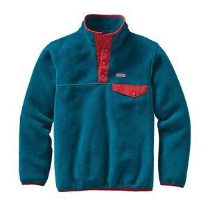 Boys' Lightweight Synchilla® Snap-T® Pullover, Deep Sea Blue (DSE)