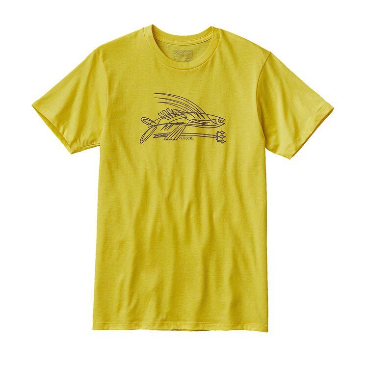 M'S PINSTRIPE FLYING FISH COTTON/POLY T-, Blazing Yellow (BLZY)