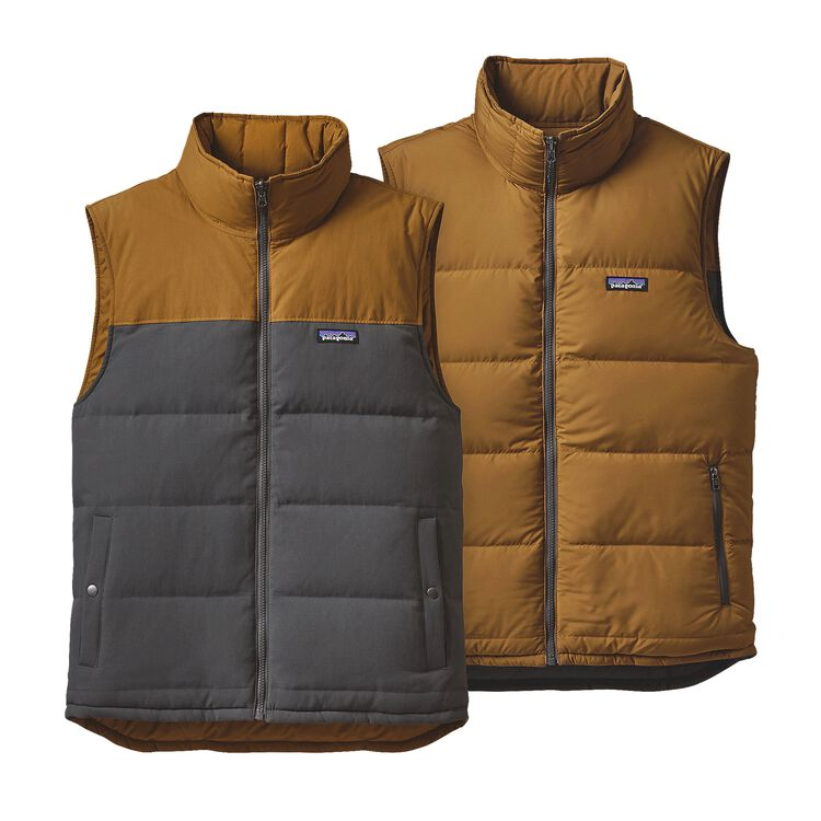M'S REVERSIBLE BIVY DOWN VEST, Forge Grey (FGE)