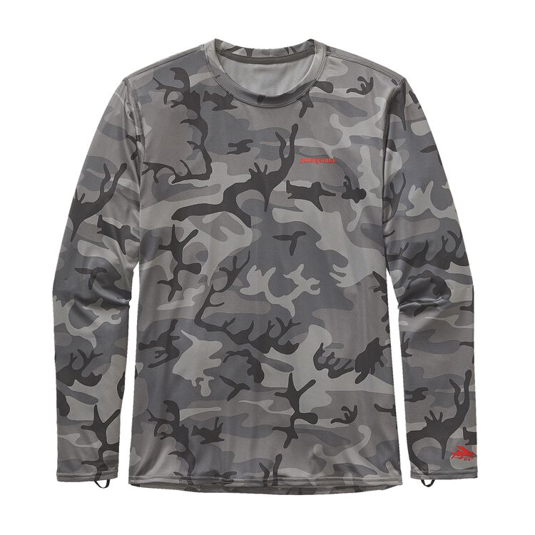 M'S L/S R0 SUN TEE, Forest Camo: Forge Grey (FCFG)