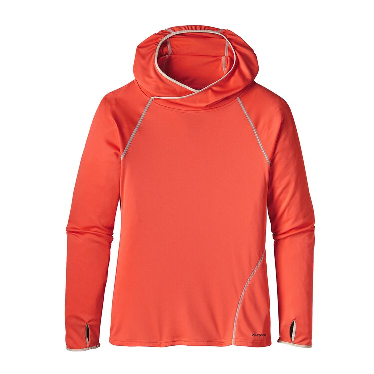 W'S SUNSHADE HOODY, Carve Coral (CRVC)
