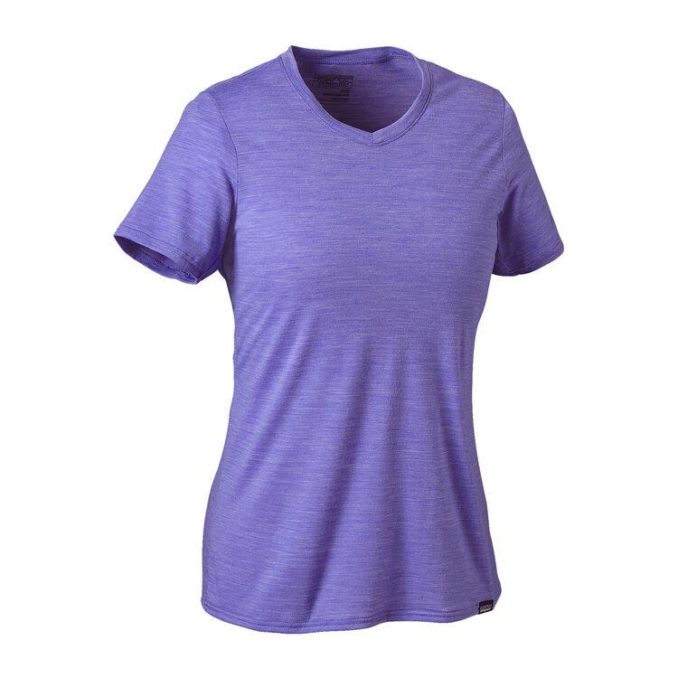 W'S MERINO DAILY V-NECK T-SHIRT, Violet Blue (VLTB)