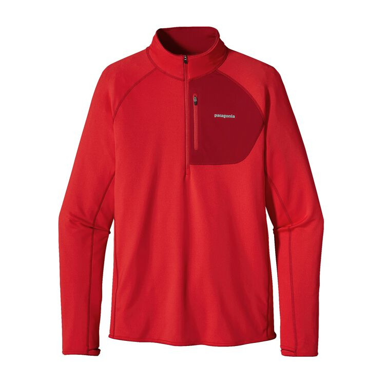 M'S THERMAL SPEEDWORK ZIP NECK, French Red (FRR)
