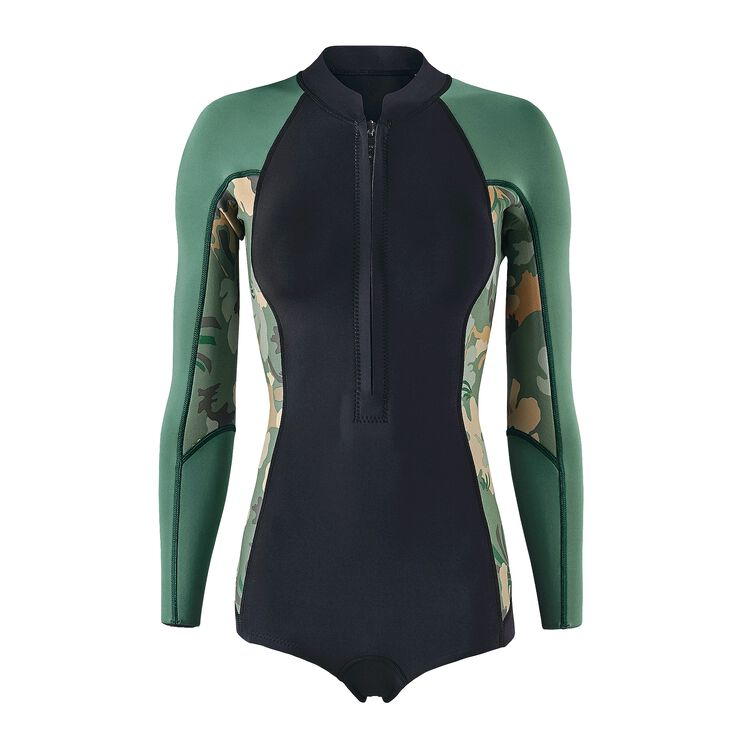W'S R1 LITE YULEX L/S SPRING JANE, Cloudbreak Small: Hemlock Green (CDHG)