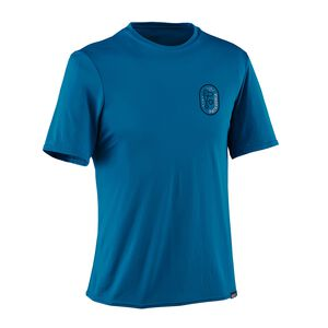メンズ・キャプリーン・デイリー・グラフィック・Tシャツ, Climb Clean Rack: Bandana Blue (CRBN)