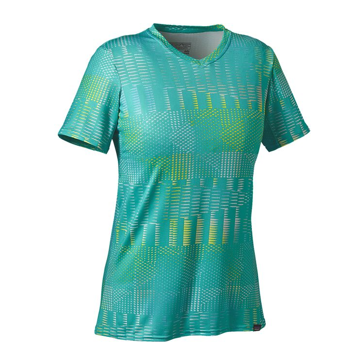 W'S CAP DAILY GRAPHIC T-SHIRT, Shadow Pop: Howling Turquoise (SHWQ)