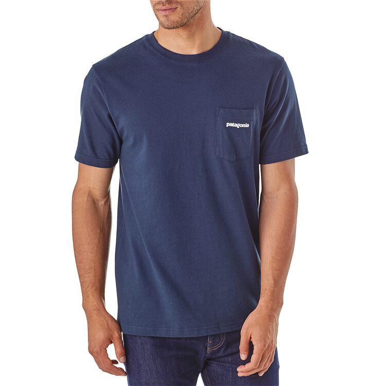 メンズ・P-6ロゴ・コットン・ポケット・Tシャツ,