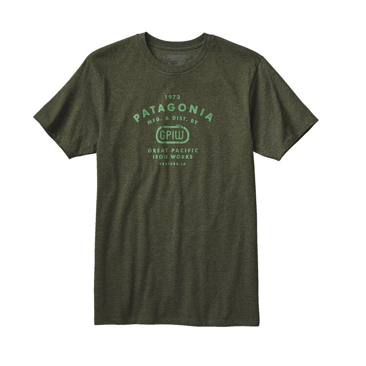 M'S GPIW BINER COTTON/POLY T-SHIRT, Urbanist Green (UGN)
