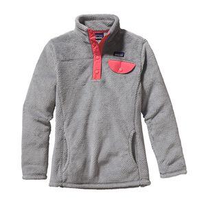 ガールズ・リツール・スナップT・プルオーバー, Tailored Grey - Nickel X-Dye w/Magic Pink (TNXM)