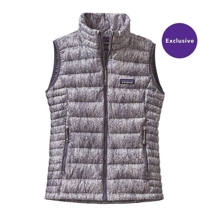 W'S DOWN SWEATER VEST, Forestland: Lupine (FOLU)