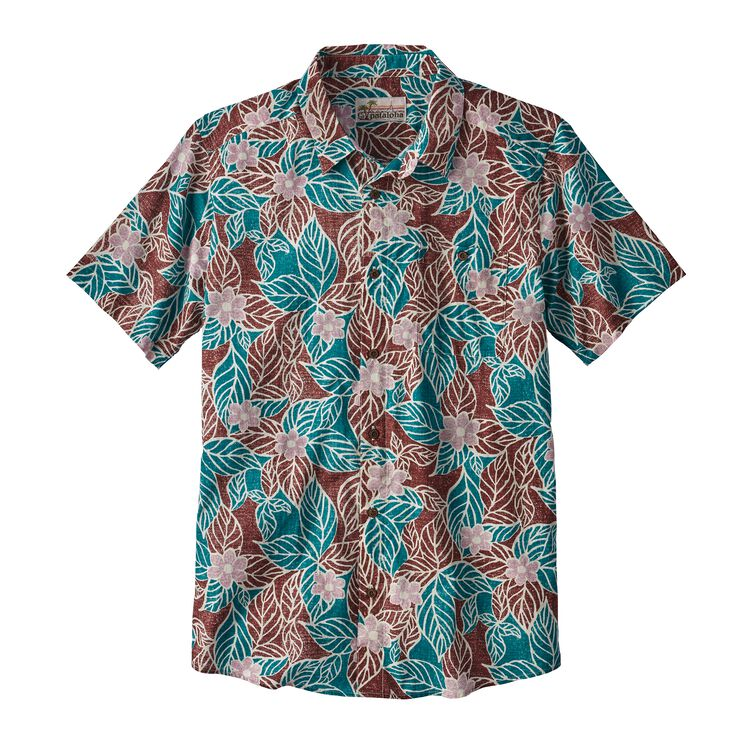 M'S MALIHINI PATALOHA SHIRT, Mountain Dogwood: Dark Ruby (MWDR)