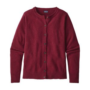 W's Recycled Cashmere Cardigan, Drumfire Red (DRMF)