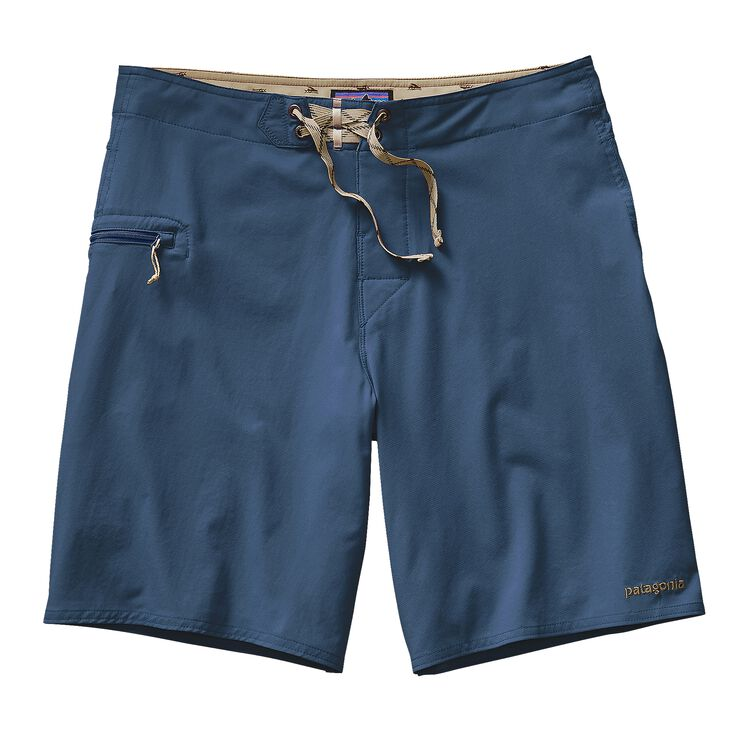 M'S SOLID STRETCH PLANING BOARD SHORTS -, Glass Blue (GLSB)