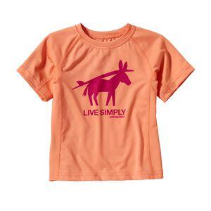 ベビー・キャプリーン 1・シルクウェイト・Tシャツ, Peach Sherbet (PCHS)