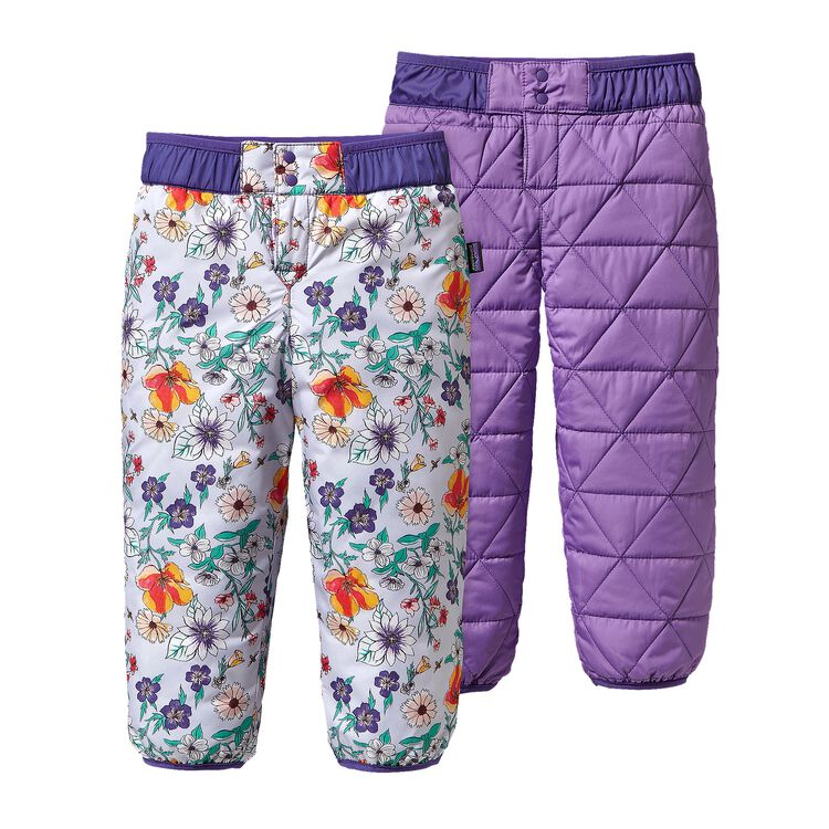 BABY REVERSIBLE PUFF-BALL PANTS, Native Bloom: Tundra Purple (NVTP)