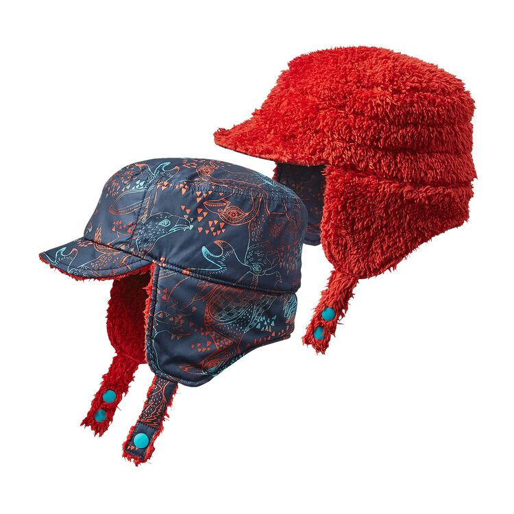BABY REVERSIBLE SHELL HAT, Forest Folklore: Navy Blue (FFNB)