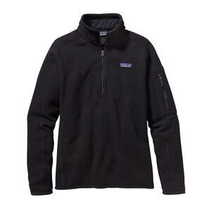 ウィメンズ・ベター・セーター・1/4ジップ, Black (BLK)