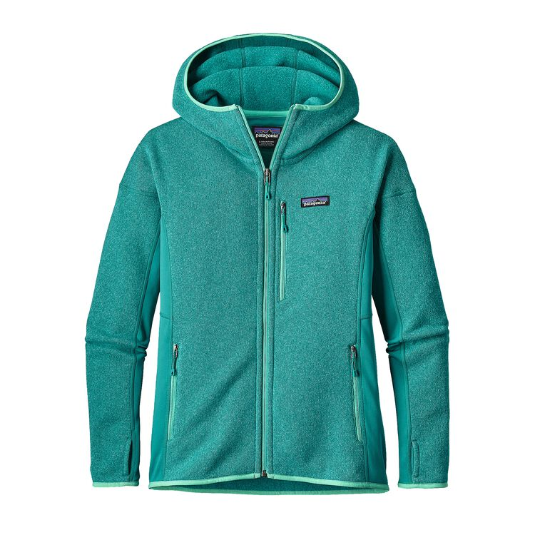 W'S PERFORMANCE BETTER SWEATER HOODY, True Teal (TRUT)