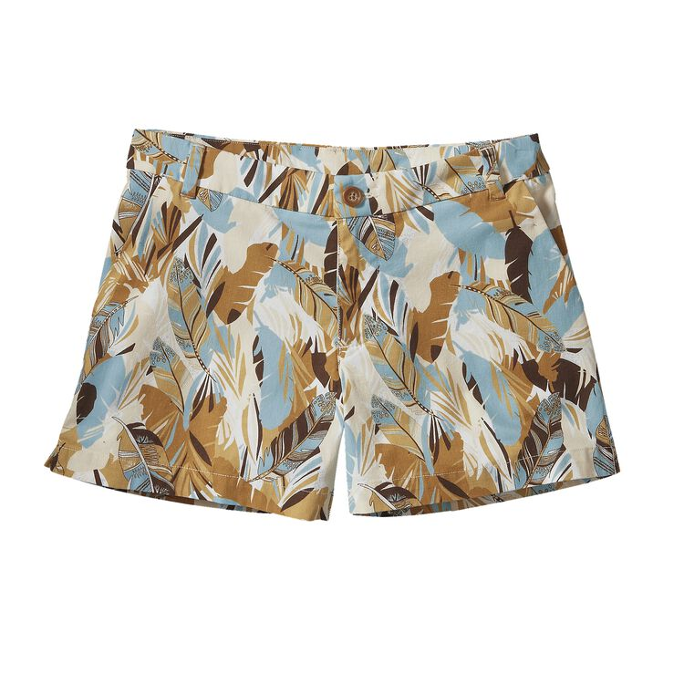 W'S STRETCH ALL-WEAR SHORTS - 4 IN., Wild Paradise Petite: Light Sesame (WPPS)
