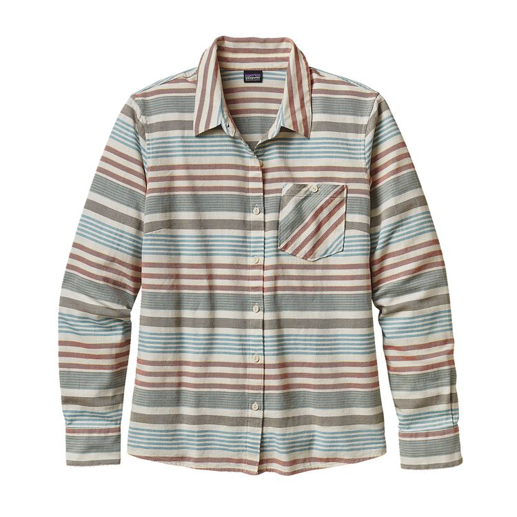 W'S HEYWOOD FLANNEL SHIRT, Pinyon Stripe: Toasted White (PSTW)