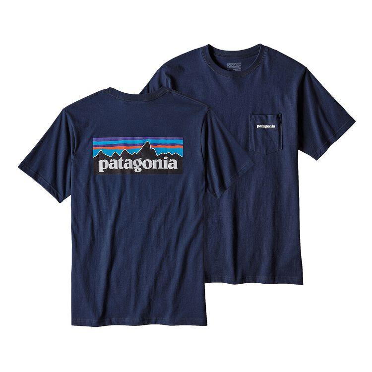 メンズ・P-6ロゴ・コットン・ポケット・Tシャツ, Navy Blue (NVYB)
