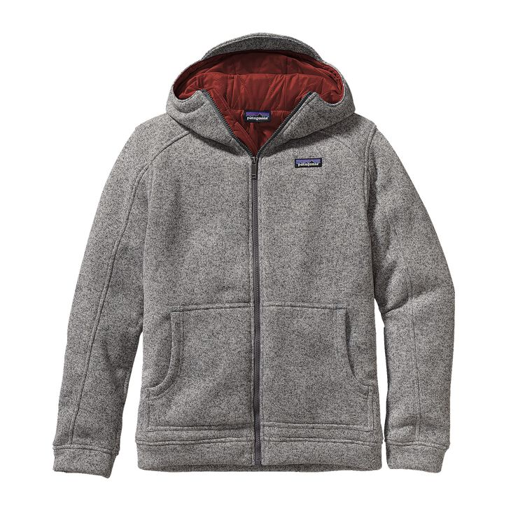 M'S INSULATED BETTER SWEATER HOODY, Stonewash w/Cinder Red (SWCI)