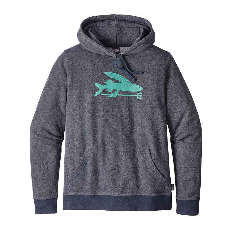 W'S FLYING FISH LW HOODY, Navy Blue (NVYB)